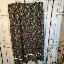 Cato Woman Black Floral Skirt Plus Size 20W Maxi Lined Linen Blend Fall Winter