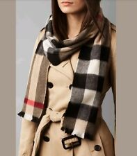 Burberry Giant Exploded Check Cashmere Scarf 22x180cm