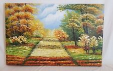Oil Paint Landscape Handmade Gallery Wrapped 21x33 Inches