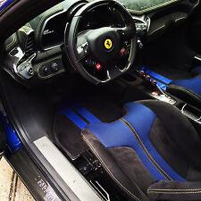 Ferrari 458 Speciale or Aperta Custom Alcantara Floor Mats with racing stripe
