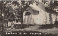 Nebraska NE Real Photo RPPC Postcard 1946 RANDOLPH Lutheran Church