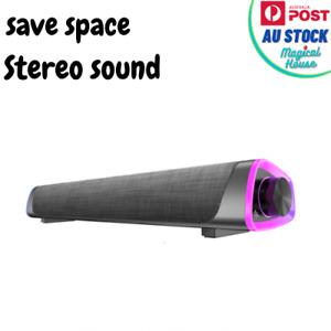 3D Surround Sound Bar Bluetooth 5.0 Wired Computer Speaker Stereo Bar Subwoofer