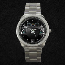 Custom Jaguar XKR- S Steering Wheel Instrument Cluster Stainless Steel Watch
