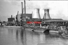 PHOTO  1973 WEST HAM POWER STATION VIEW FROM WEST INDIA DOCK ROAD BRIDGE AT CANN