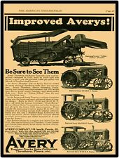 Avery Farm Machinery Reproduction Metal Sign: 1923 Yellow Fellow + Tractor Pics