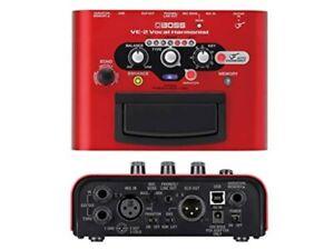 Boss VE-2 Vocal Harmonist Vocal Stompbox Brand New