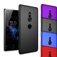 For Sony Xperia XZ2 - Ultra Slim Hard Case Thin Shell Cover & Screen Protector