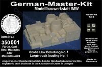 350001,Ladegut, 1:35, Große LKW Beladung No. 1, Resin, WWII, GMK World War II,