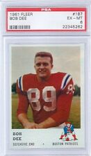 1961 Fleer Football # 187 Bob Dee PSA 6