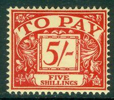 GREAT BRITAIN : 1955. Stanley Gibbons #D55 Very Fine, Mint Original Gum VLH