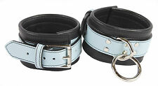 """Ankle Restraints Shades of Baby Blue Genuine Leather  """"NEW"""""""