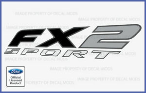 1997 - 2008 Ford F150 FX2 SPORT Decals Stickers - FB Truck Bed Side Full Color