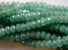 "5x8mm Natural Faceted Emerald Abacus Loose Beads Gemstone 15"" AAA+R"