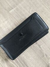 Marc Jacobs Black Leather Bifold Snap Closing Wallet