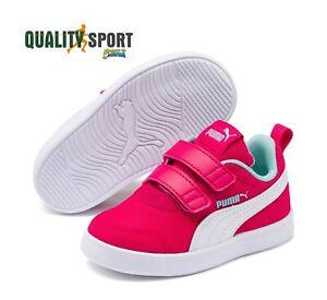 Puma Courtflex Fucsia Scarpe Shoes Infant Sportive Sneakers 371759 02