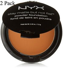 2 Pack NYX Stay Matte But Not Flat Powder Foundation, SMP 18.3 Deep Golden