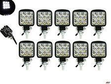 Set Of 10 Waterproof 27w 9 Led Spot Beam Mini Work Lights Lamps Offroad Tractor