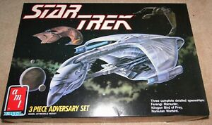 Star Trek 3-Piece Adversary Set-Bird of Prey, Ferengi Marauder, Romulan Warbird