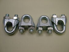 """Wire rope grip U-bolt clamp 16mm for 5/8"""" wire,pack 4"""