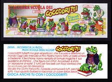 100% Originale Kinder Ferrero Sorpresine Cartina Cartine BPZ Ü-Ei Coccodritti I