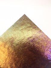 Bullseye Iridised Rainbow on Deep Royal Blue Glass 3mm Fused 10x10cm COE90