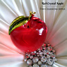 Red Apple Crystal Figurine_Figure_Paperweight_Fairy Tale_Home Decor_Princess