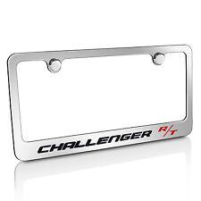 Dodge Challenger R/T Chrome Brass Metal License Plate Frame, Official Licensed