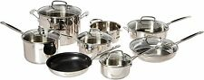 NEW Cuisinart 14 Piece Stainless Steel Cookware Set
