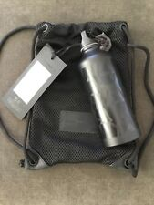 ALEXANDER WANG  H&M Black Sport Water Bottle metal holder NWT & Mini sports bag