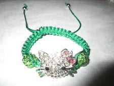 Ladies Fashion Shamballa Bead Hello Kitty Bracelet Brand New