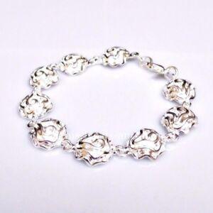 SALE Traumhaftes Armband Rosen Design Silber beschichtet 18,5 cm