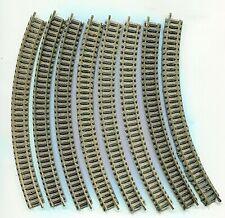 8 x FLEISCHMANN 9125  Curved track R2        N Gauge   (1)