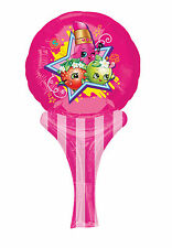 Shopkins   Lippy Lips Inflate-A-Fun Air Fill Foil Balloon Party Bag Filler 1-8pk