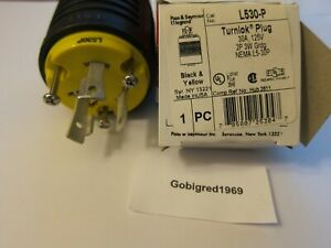 NEW! Pass & Seymour Turnlok Generator RV Plug 30A 125V L530-P LOTS More Listed