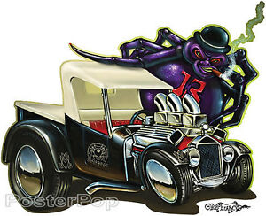Black Widows STICKER Decal Hot Rod Art Von Franco VF40