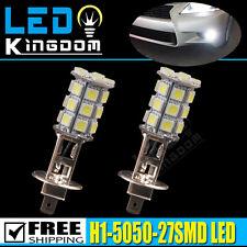 2x White 6000K LED H1 5050-27SMD 12V Vehicle Car Fog Driving DRL Light Bulbs