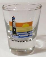 "Hampton Beach New Hampshire Lighthouse Scene 2.25"" Collectible Shot Glass"