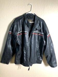 XXL Black Motorcycle Jacket Leather like Arizona 2XL