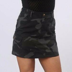 DeMIna A-Line Camouflage skirt A line Jungle sizes 4 to 18 Camo-Angie Dark