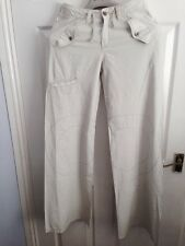 Firetrap ladies Cream Trousers Waist Size28.5 Length34(reduced My Price)