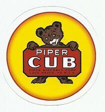 PIPER CUB AIRPLANE  Sticker Decal