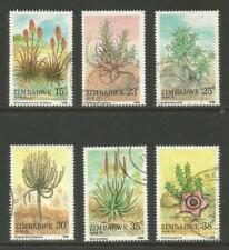 Zimbabwe 1988 Aloes & Succulents--Attractive Plant Topical (566-71) fine used