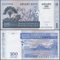 Madagaskar 100 Ariary. UNZ 2004 (2008) Banknote Kat# P.86b