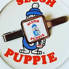 Unique! SLUSH PUPPIE TIE CLIP chrome SLUSHIE retro UNUSUAL cool ICED DRINK fab!