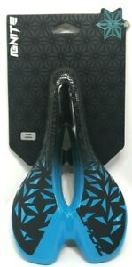 Supacaz Ignite OIL SLICK Titanium Road/Mountain Bike Saddle Neon Blue $185 MSRP