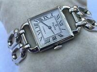 Kingston Watch Vintage Wristwatch Hand Winding Silver Tone Analog 17 Jewels