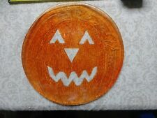"Vintage Vtg Halloween Plate Art Glass Large Heavy 13"" Rare Collectible Retro Jol"