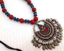 Bead Tribal Gypsy Pendant Necklace Old Boho Handmade Afghan Banjara Wooden