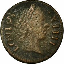 [#860483] France, Louis XIV, Denier tournois, 1649/2, Paris, TB+, Cuivre