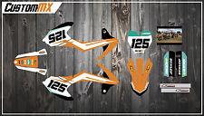 KTM SX50 SX65 Graphics Kit with custom numbers etc - SX 50 65 2002-2019 ProStock